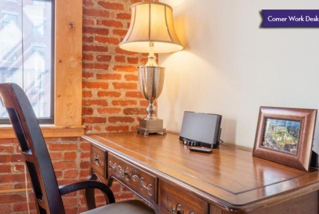 Work-desk with Bose Sound Dock