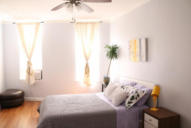 Master Bedroom with Queen Bed Sleeps 2  Ceiling Fan and Air Conditioner